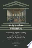 Early Modern Universities Book