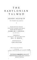 The Babylonian Talmud      Seder Nezikin  4 v  1935
