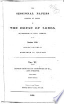 Reports from Select Committees of the House of Lords and Evidence