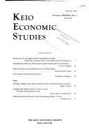 Pdf Keio Economic Studies