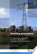 Greening Governance Book