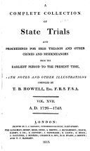 Cobbett's Complete Collection of State Trials and Proceedings for High Treason