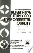 Working Papers In Alternative Futures And Environmental Quality
