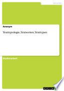 Texttypologie, Textsorten, Texttypen