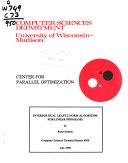 Computer Sciences Technical Report