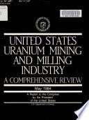 United States Uranium Mining and Milling Industry