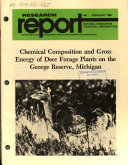 Research Report from the Michigan State University Agricultural Experiment Station, East Lansing