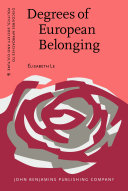 Pdf Degrees of European Belonging Telecharger