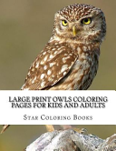 Owls Coloring Pages for Kids and Adults