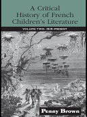 Pdf A Critical History of French Children's Literature Telecharger
