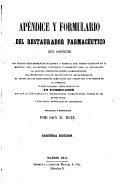 Apéndice y formulario del restaurador farmaceutico ...
