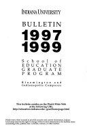 Indiana University Bulletin
