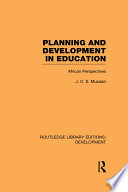 Planning And Development In Education