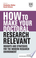 How to Make your Doctoral Research Relevant