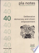 PLA Notes 40: Deliberative Democracy and Citizen Empowerment