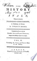 The History of Italy from the Year 1490 to 1592
