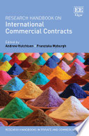 Research Handbook on International Commercial Contracts