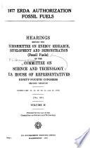 1977 ERDA authorization, fossil fuels