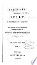 Sketches Descriptive Of Italy In The Years 1816 And 1817