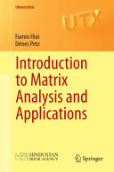 Introduction to Matrix Analysis and Applications