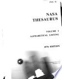 Nasa Thesaurus Book PDF