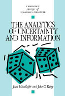 Pdf The Analytics of Uncertainty and Information