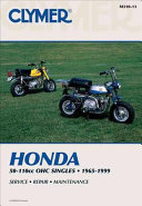 Clymer Honda 50-110Cc Ohc Singles, 1965-1999: Service, Repair, ...