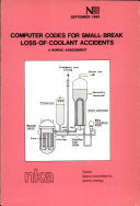 Computer codes for small-break loss-of-coolant accidents ebook