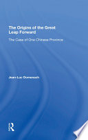 The Origins Of The Great Leap Forward Book PDF