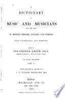 A Dictionary of Music and Musicians Book PDF