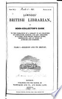 British Librarian Or Book Collector S Guide
