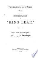 Interpretation Of King Lear