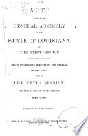 Acts Passed By The General Assembly Of The State Of Louisiana