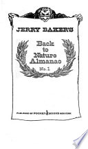 Jerry Baker's Back to Nature Almanac