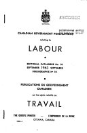 Canadian Government Publications Relating To Labour