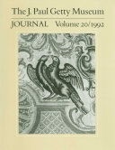 The J. Paul Getty Museum Journal: Volume 20, 1992