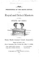 Proceedings of the Grand Council of Royal and Select Masters of the State of Ohio at Its ... Annual Assembly