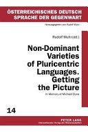 Non-dominant Varieties of Pluricentric Languages