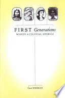 First Generations Book PDF
