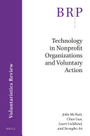 Technology in Nonprofit Organizations and Voluntary Action