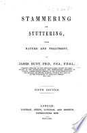 Stammering And Stuttering Facsimile Of The 1861 Edition Etc With A New Introduction Book