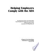 Helping Employers Comply with the ADA