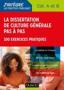 La dissertation de culture générale pas à pas - Concours Catégories A et B
