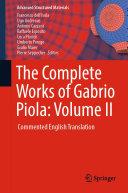 The Complete Works of Gabrio Piola  Volume II