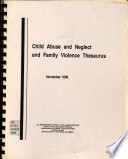 Child Abuse and Neglect and Family Violence Thesaurus