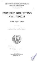 Farmers  Bulletin Book PDF