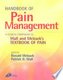 Handbook of Pain Management  : A Clinical Companion to Textbook of Pain
