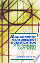 Management  Measurement   Verification of Performance Contracting Book