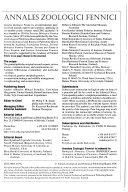 Annales Zoologici Fennici Book PDF