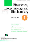 Bioscience  Biotechnology  and Biochemistry Book